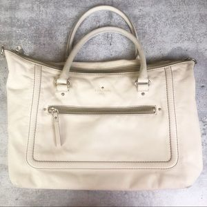 Kate Spade Cream Leather Purse Handbag